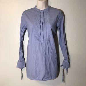 Ann Taylor button down tie sleeve blouse